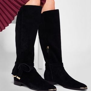 TED BAKER Suede Alrami Knee High Boots